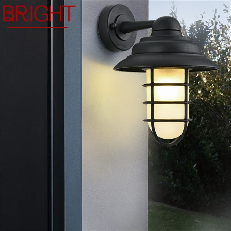 BRIGHT Retro Outdoor Wall Lamps Classical LED Lighting Waterproof IP65 Sconces For Home Porch Villa