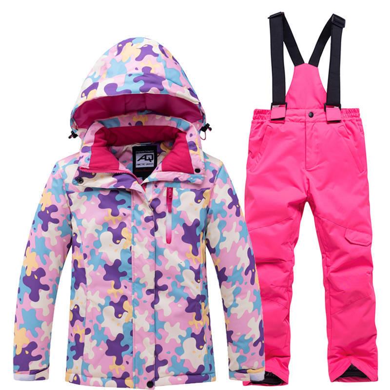 الأطفال الثلوج دعوى مجموعات التزلج على الجليد ارتداء مقاوم للماء الشتاء في الهواء الطلق الرياضة تزلج سترة و المرايل الثلوج بانت ل صبي و فتاة