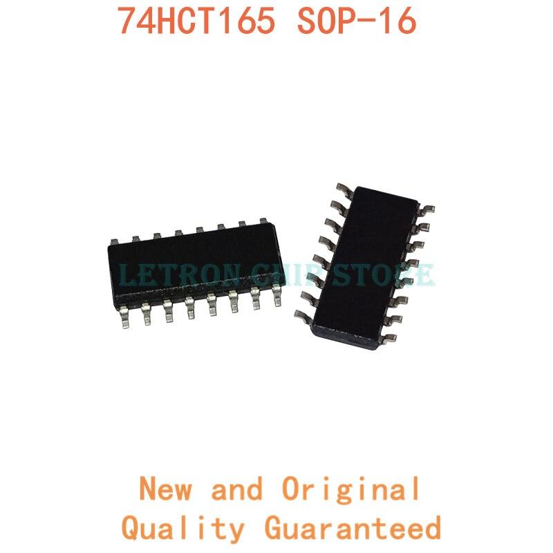 10PCS 74HCT165 SOP16 SN74HCT165DR SOP-16 74HCT165D HCT165 SOIC16 SN74HCT165D SOIC-16 SOP SMD novo e original Chipset IC