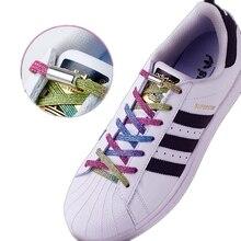 Multicolore Elastico lacci delle scarpe Rotondo blocco di Metallo Comodo Senza Cravatta Lacci Delle Scarpe Adatto per tutti i tipi di scarpe Unisex Shoestring