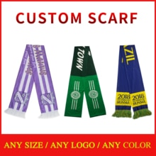free sample designer scarf custom printing scarf  Customized polyester scarf   Knitted Sports fan sc