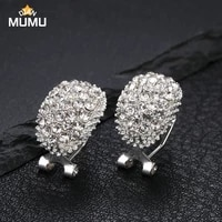 classic design romantic jewelry shiny diamond earrings earrings zirconia earrings female elegant wedding jewelry gifts