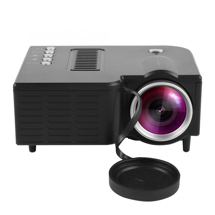 Mini proyector portátil de cine en casa LED Mini con conexión de cable para proyector HD 1080P HD VGA HDMI USB 110-240 V/US/UK/EU/AU enchufe casa reunión