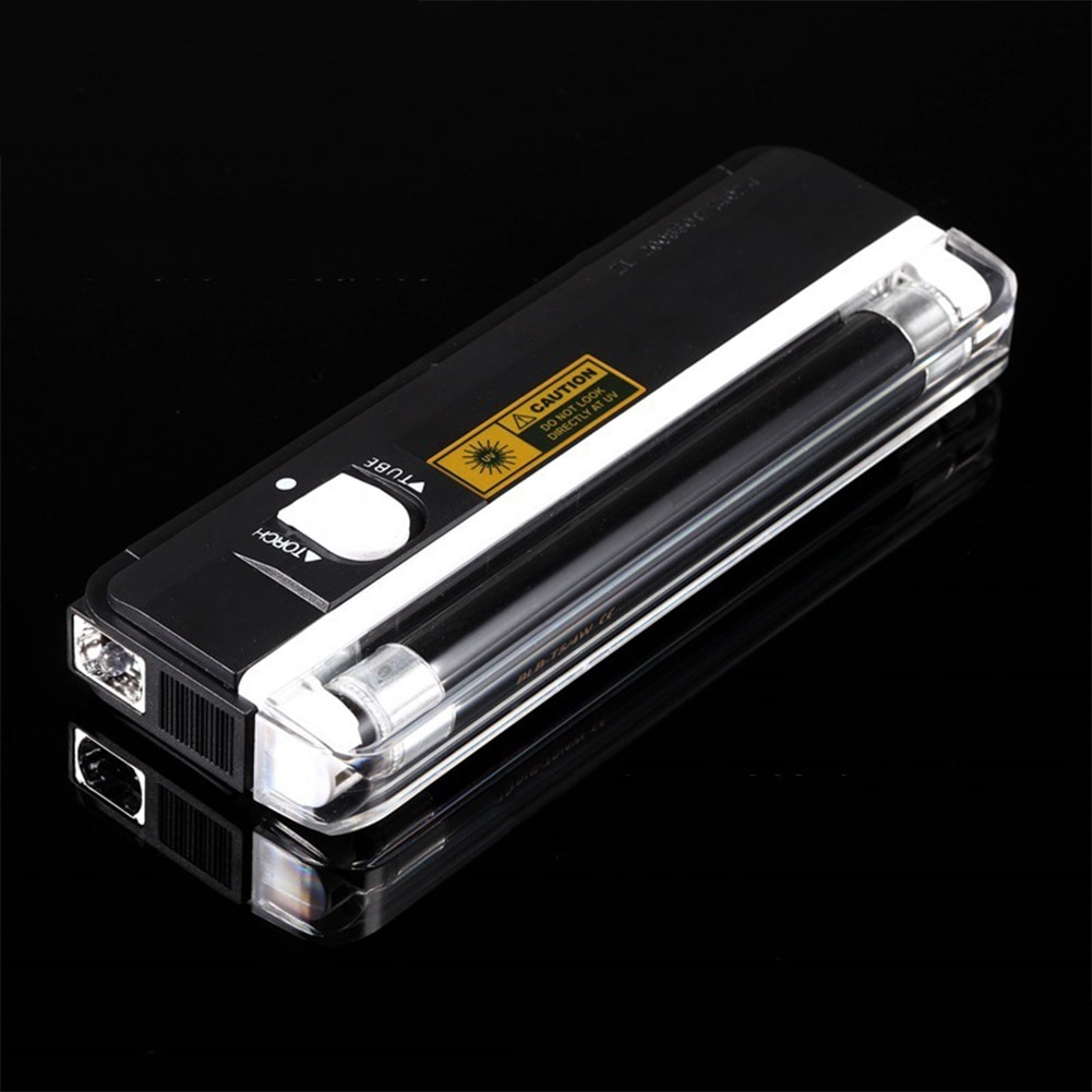 Portable Banknotes UV Lamp Currency Bill Security Handheld Counterfeit Flashlight Check With Torch Note Money Detector Fake