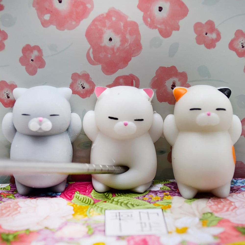 3pcs Cute Mochi Cat Squeeze Healing Fun Kids Kawaii Toy Stress Relief Toy Lightweight And Fun Pinching Toys Детские Игрушки