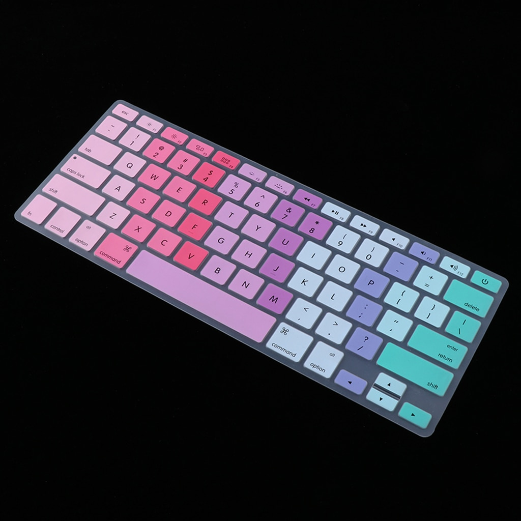 13 дюйм чехол для клавиатуры силиконовая кожа для MacBook Air 13 дюймов и MacBook Pro retina мягкая клавиатура наклейки клавиатура крышка протектор