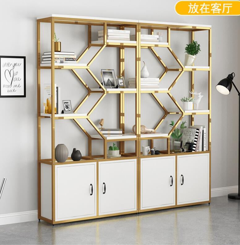 خزانة عرض مستحضرات التجميل ، رف صالون تجميل ، صالون حلاقة ، مع خزانة