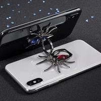 1pcs finger ring holder 360 rotate mobile phone stands metal spider bling for samsung s10 for iphone x mobile phone accessories