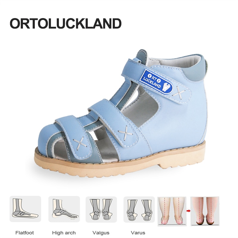 Children Girls Shoes Summer 2021 Kids Sandals Boys Orthopedic Tiptoe Small Sizes 2 3 Years Closed Toe Arch Support Footwear enlarge