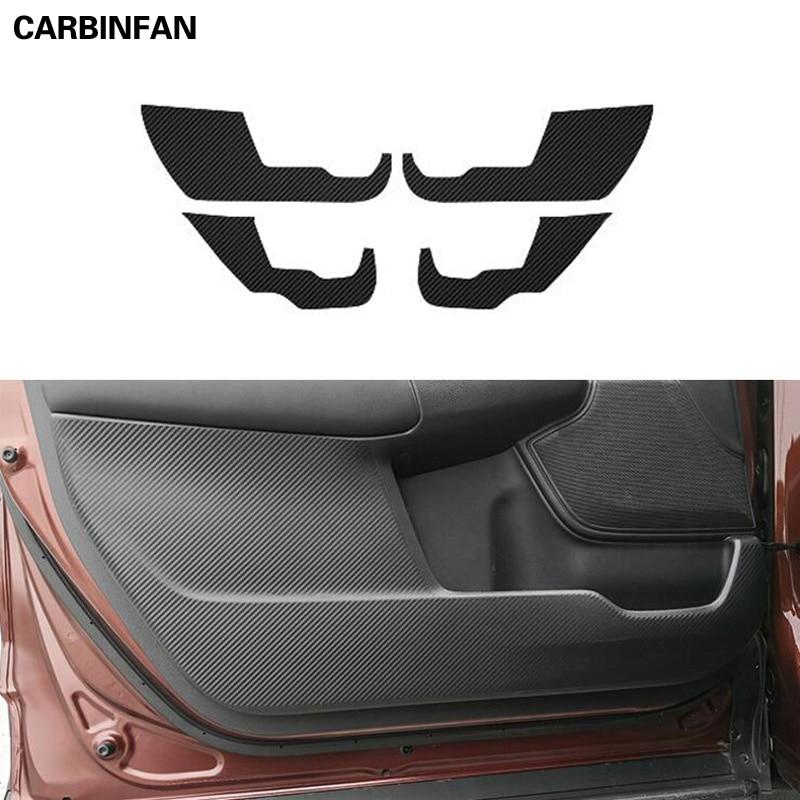 Estilo de coche lado puerta interior etiqueta Anti-kick protector de fibra de carbono película pegatinas 4 unids/set para Honda CRV CR-V 2017 de 2018 a 2019