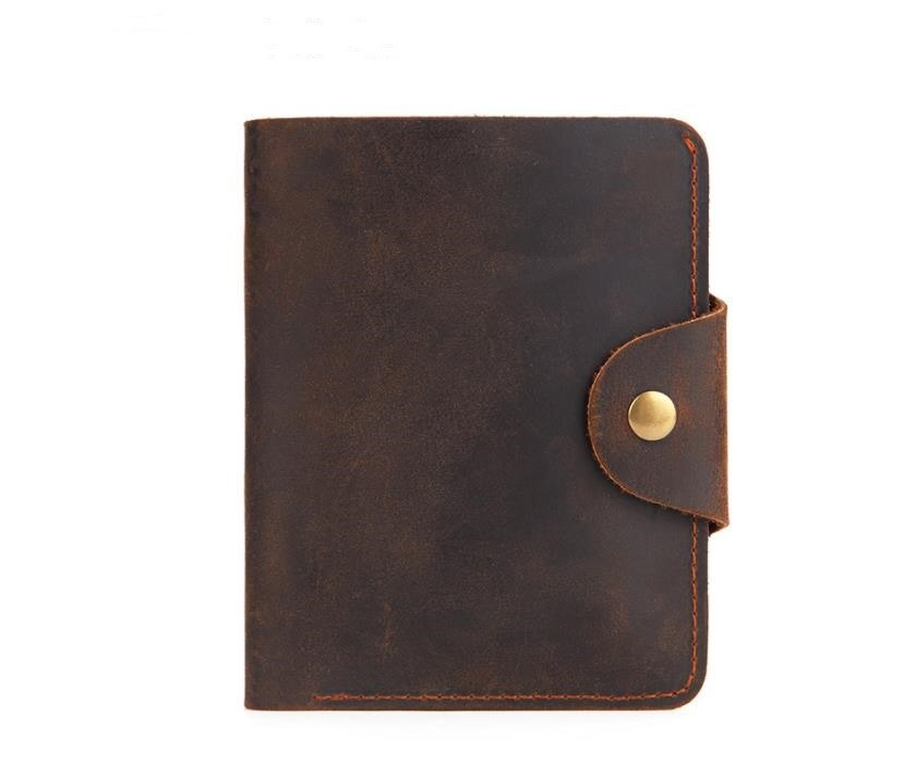 genuine leather men wallets vintage wallet hasp fashion small mini