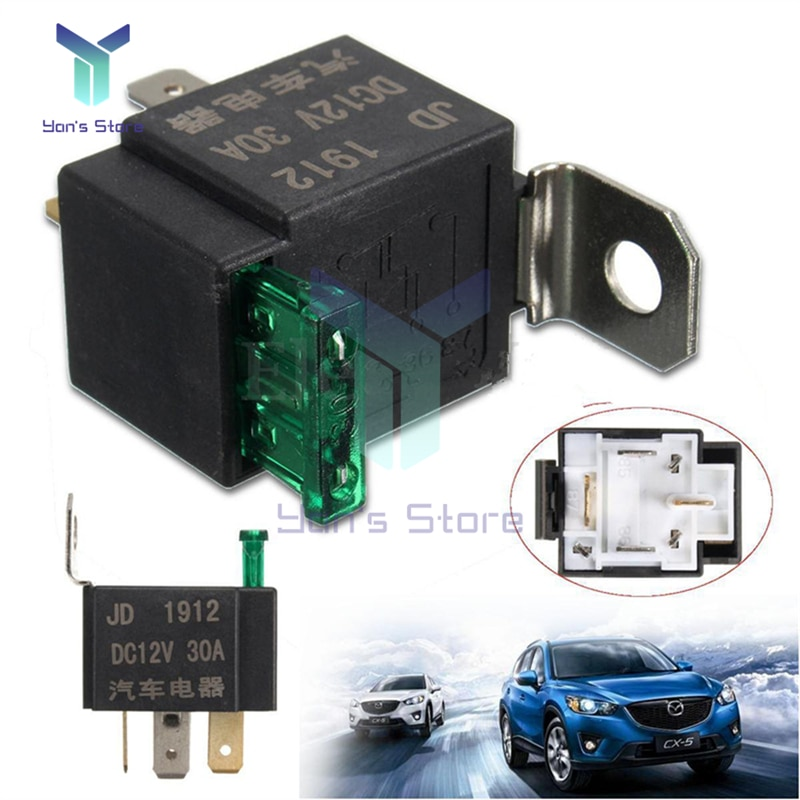 4pin Car Fuse Relay DC12V 30A Fused On/Off Car Motor Automotive Auto Fused Relay DC 12V 30A 4 Pin 4P SPST Metal
