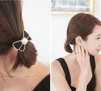 120pcslot diy simple multi paillette pearl bowknot hair bands elasticity rubber band hair styling tools accessories ha1217