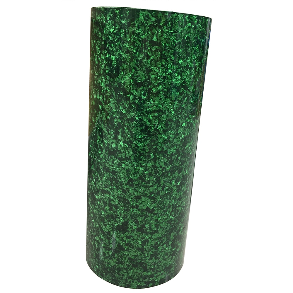 500mm x 1580mm Green Pearl Celluloid Sheet 0.46mm DIY Drum Wrap Musical Instrument Deco enlarge