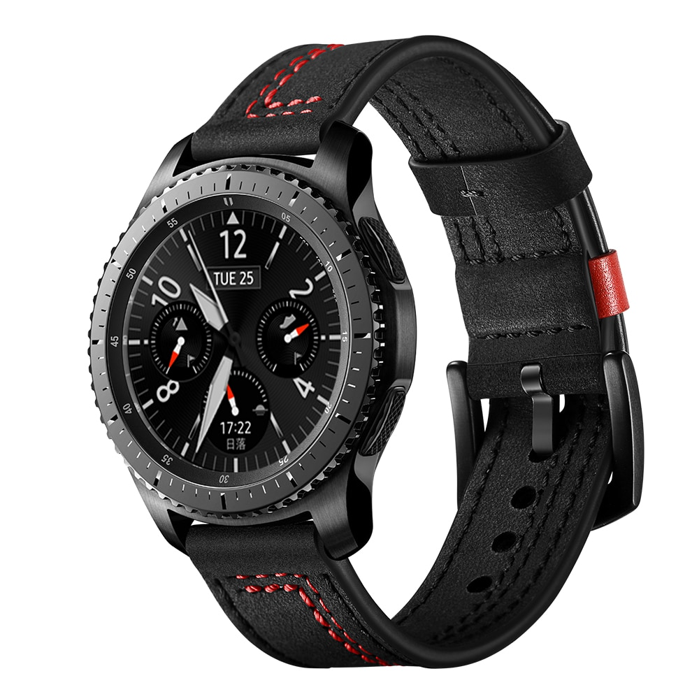 Strap For Samsung galaxy watch active 2 46/mm Gear S3 frontier leather belt correa amazfit bip huawei watch gt 2 band 20/22mm