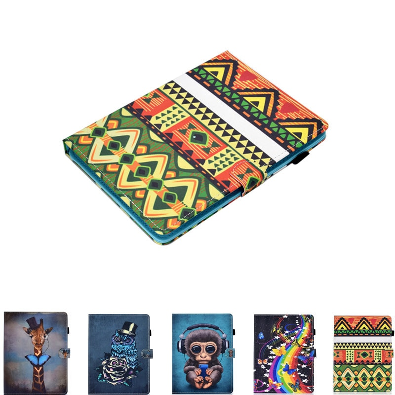 PU Leather Cartoon Universal Print Case For Kindle 4/5 Reader ONYX BOOX C67ML 6 Inch Ebook Protective Cover