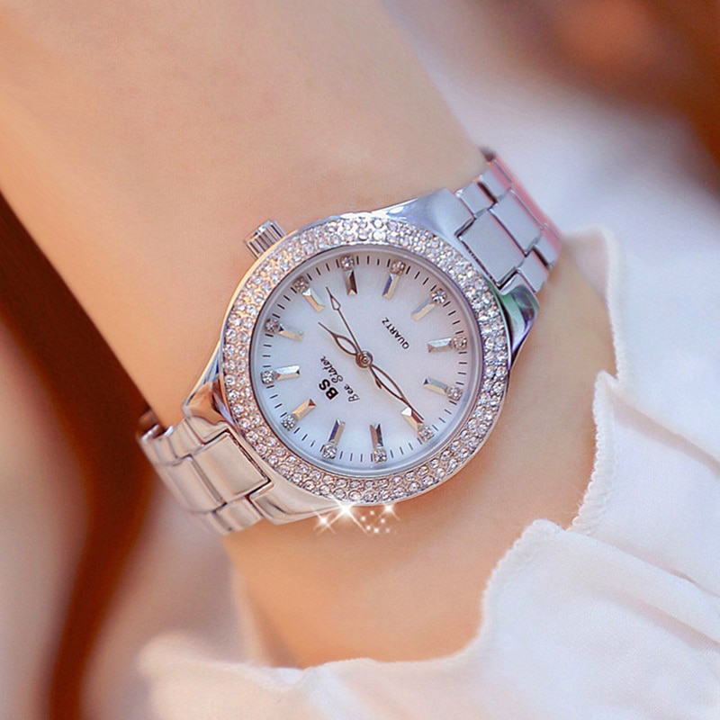 Fashion Women Watches Luxury Iced Out Diamond Rhinestone Ladies Watch Casual Dress Quartz Wristwatch