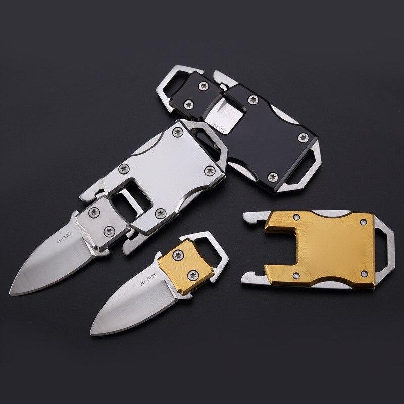 Карманный складной мини-нож из нержавеющей стали для повседневного использования, с брелоком, спортивные инструменты для самообороны, кемп...