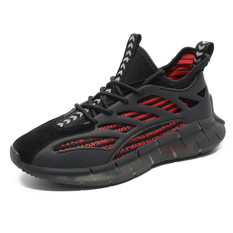 Running Shoes Breathable Lace-Up Sneakers Comfortable High-Quality Men's Shoes Brand Outdoor Fitness Shoes Sports Shoes Training