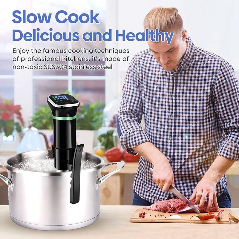 1100 واط LCD اللمس فراغ سوس فيديو طباخ الغمر دائري دقيق الطبخ مع شاشة ديجيتال LED دائري طباخ بطيء