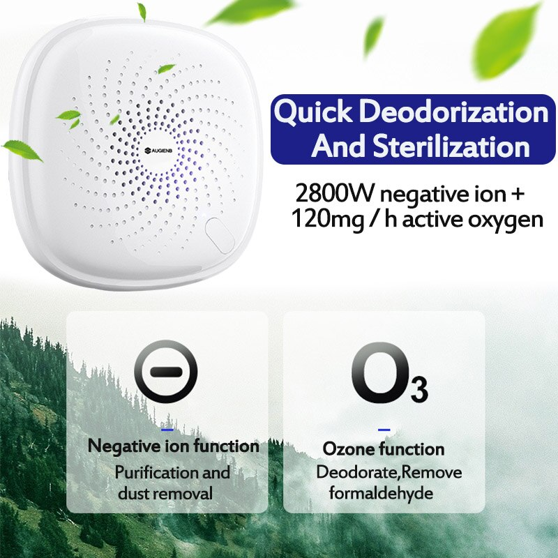 AUGIENB AC110-240v Air Purifier Ozone Generator Ionizer Generator FILTER Purification Home Toilet Pet Deodorizer Air Ionizer
