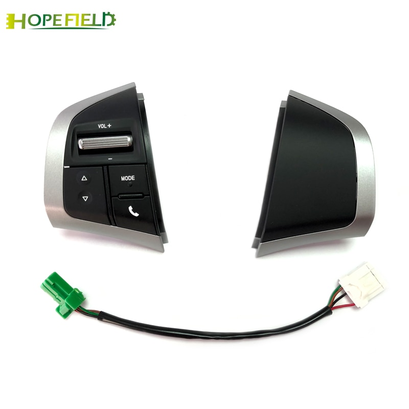 Botón de volante multifunción Audio volumen Bluetooth Teléfono manos libres interruptor con cable para Isuzu d-max DMAX Accesorios