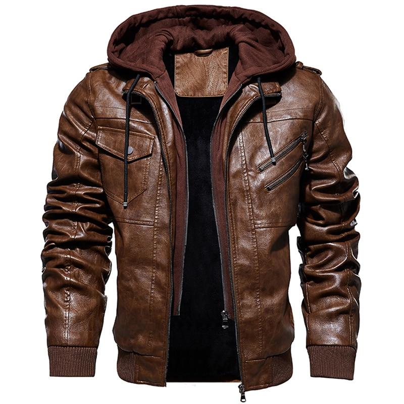 الشتاء سترة الرجال العسكرية ملابس خارجية الصوف التكتيكية سترات من الجلد الرجال موضة السائق دراجة نارية بولي Coats معاطف Jaqueta Masculino