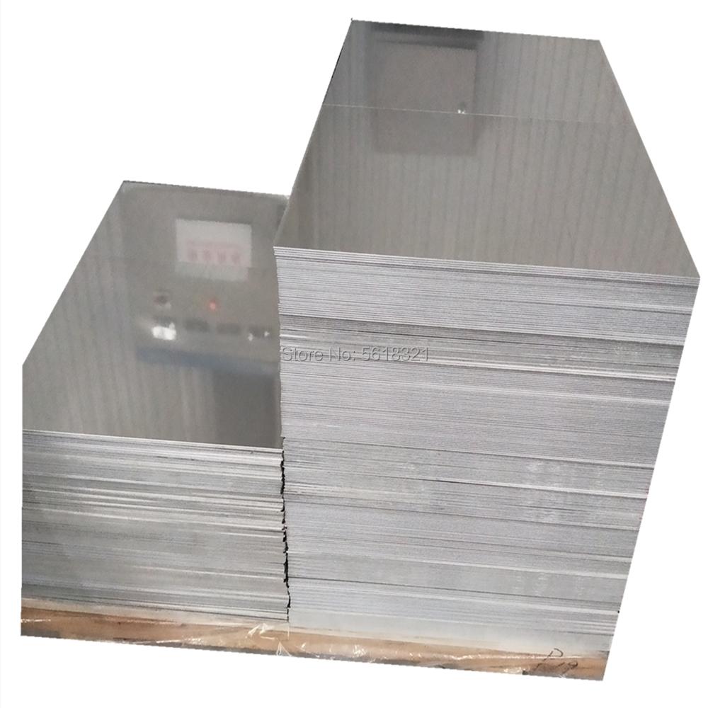 Diy 6061 placa de alumínio alta dureza folha de alumínio 3/5/8/10mm 100x200x10mm 2 pces 100x40x10mm 4 pces