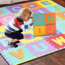Tapis alphanumérique de 36 pièces   Couleur aléatoire, haute qualité, tapis de sol en EVA, tapis de jeu pour chambre de bébé, puzzle en mousse ABC, tapis durable, meilleure vente, T6