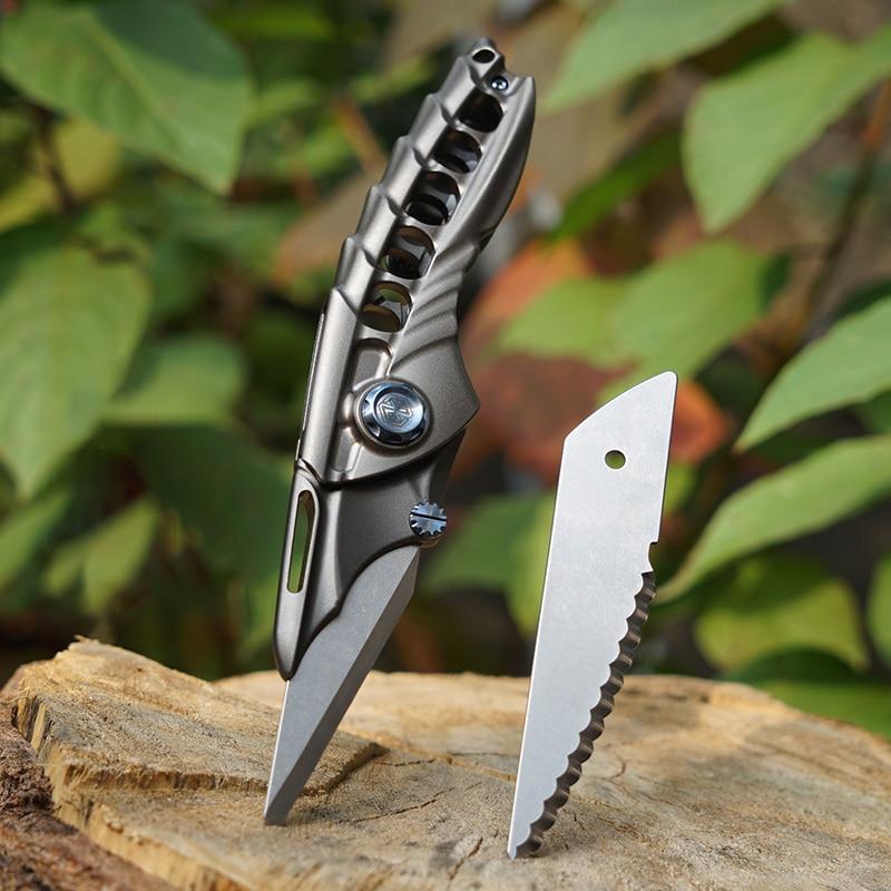 Titanium Alloy Folding Utility Knife Multi-function EDC Bearing Quick Release Blade