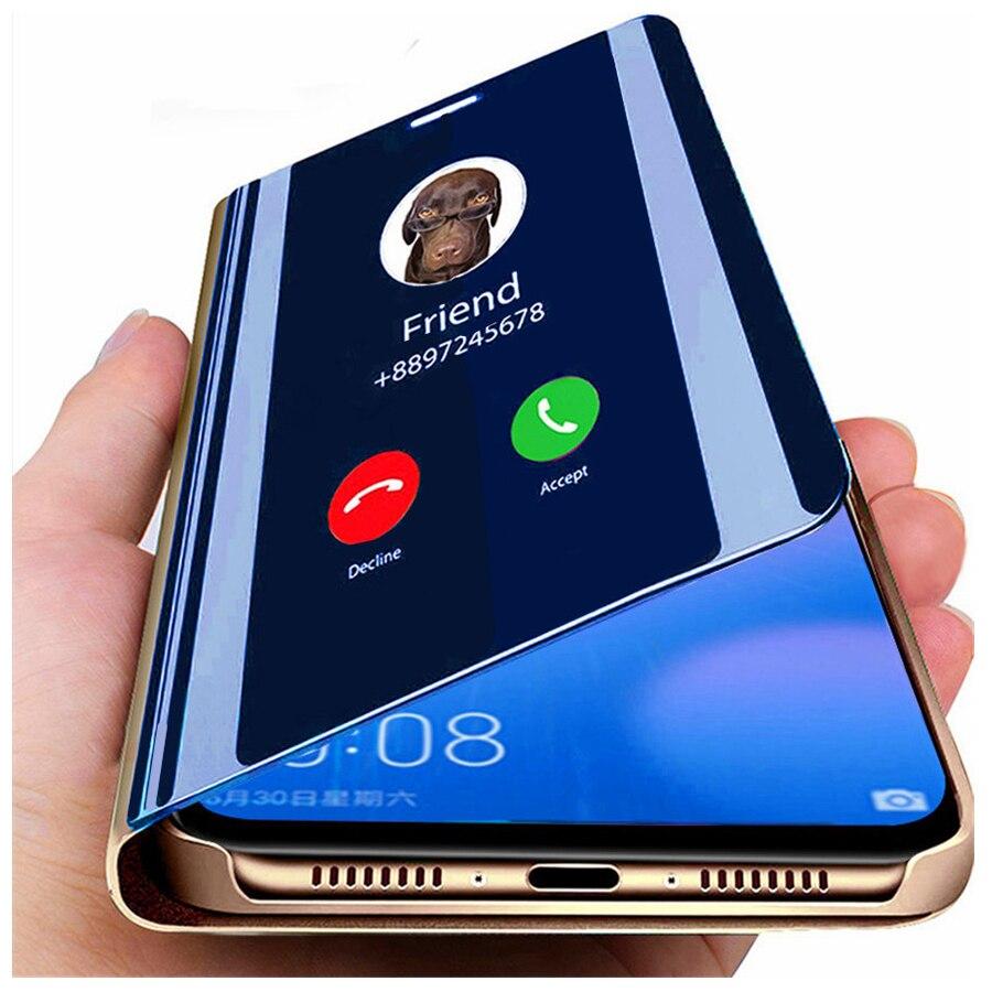 Smart Spiegel Flip Fall Für Samsung Galaxy A51 A52 A72 A32 A12 A50 A71 A70 S21 S20 Ultra FE S9 s8 S10 Plus A20 A20e A31 A30 Abdeckung Schiebehüllen    -