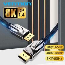 Ventie Displayport 1.4 Kabel 8K @ 60Hz Hoge Snelheid 32.4Gbps Display Port Kabel Voor Video Pc Laptop dp 1.4 Display Port 1.2 Kabel