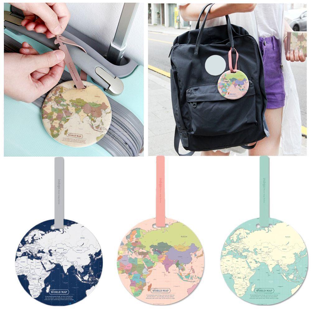 Модная бирка для багажа с картой Женские аксессуары путешествий силиконовый