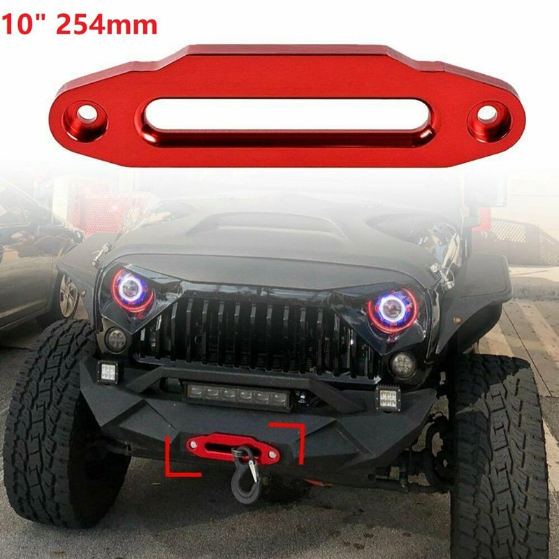 Cabrestante sintético de aluminio de alta calidad, Cable rojo de 10 pulgadas,...