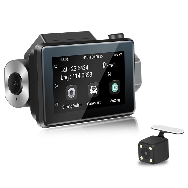 K9 3,0 pantalla Android 5,0 coche Cámara Dvr Dash Cam Full Hd 1080P registrador Gps grabadora de Video 3G Wifi Dual lente Wdr Dashcam