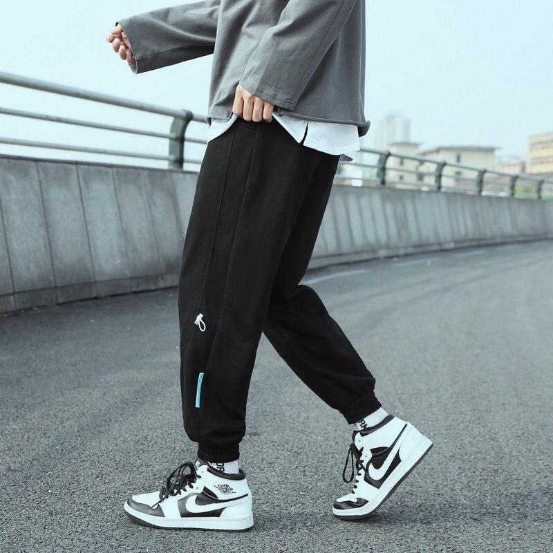 Мужские штаны для бега, новинка 2021, модные однотонные повседневные брюки, свободные спортивные штаны, мужские тренировочные штаны Harlan, брюк...