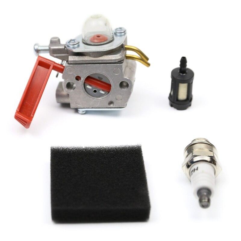 Carburetor Kit for Homelite UT-20749 UT-20758 UT-20769 UT-20785 UT-20778 UT-20760 Air Fuel Filter Spark Plug Accessories Parts