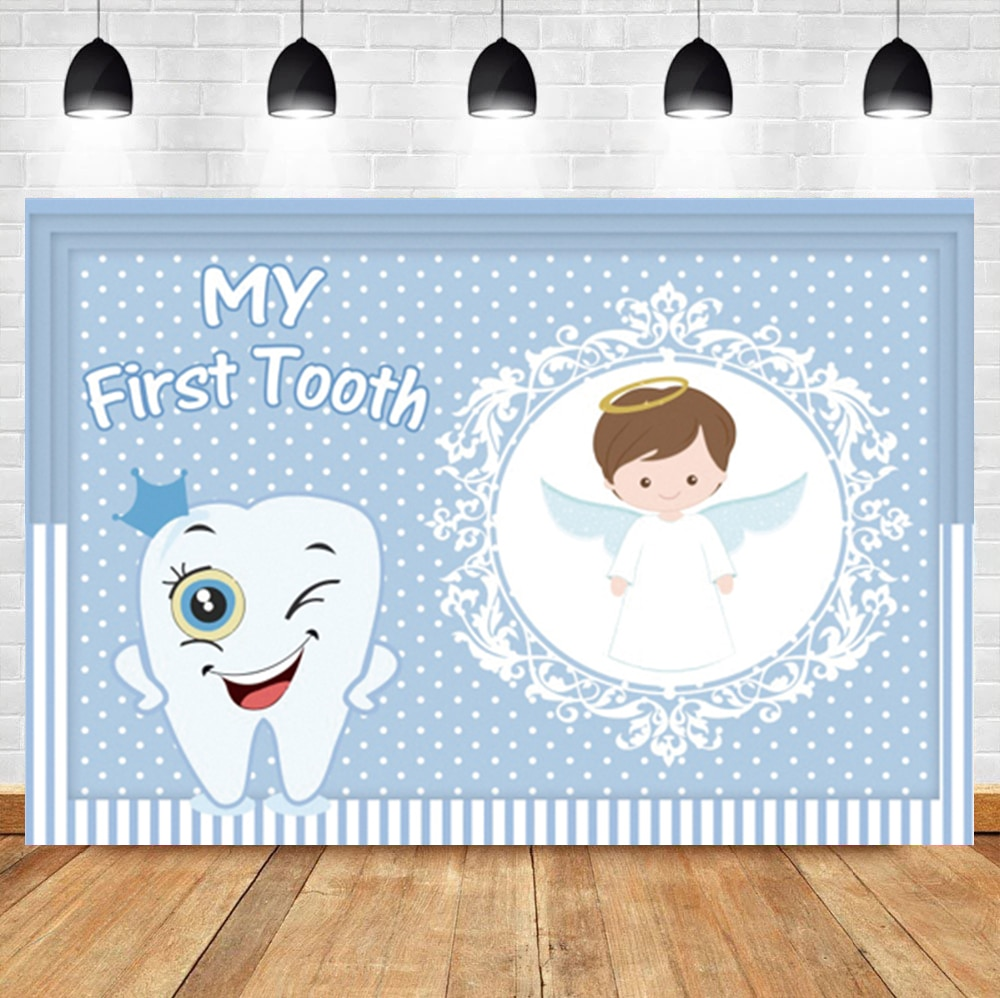 aliexpress.com - Laeacco My First Tooth A little Angle Spot Circle Customize Photographic Backdrop Photographic Background Photocall Photo Studio