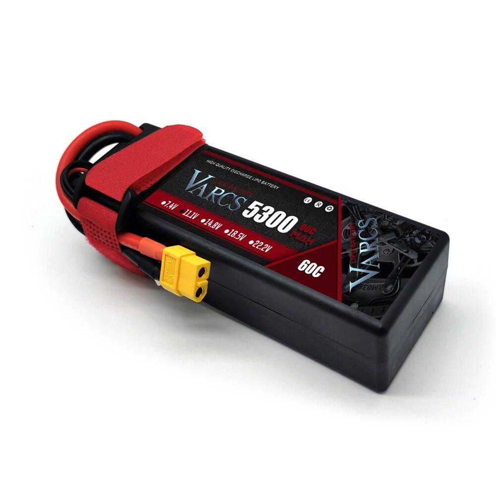 2PCS VARCS RC Lipo Battery 3S 11.1V 5300mAh 60C/120C HardCase for RC 1/8 /10 Car Off-Road Buggy Truck Boats Drone Salash Parts enlarge