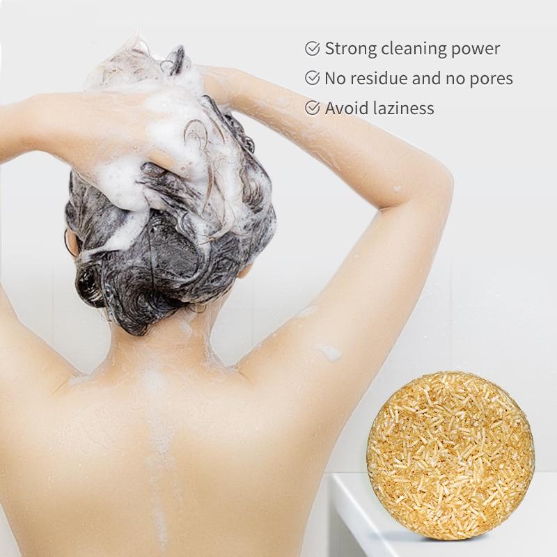 Champú para el cabello hecho a mano, barra de champú procesado en...