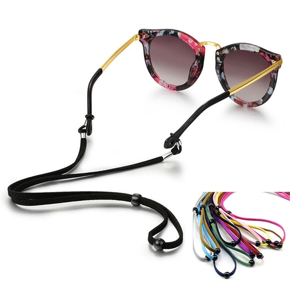 Gafas de sol de Color sólido, Negro, Rosa, cordón con correa para el cuello, cordón de cuerda para gafas, soporte para gafas de lectura, gafas