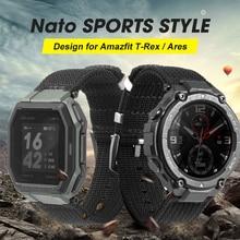 Bracelet de montre en Nylon pour Amazfit T rex t-rex montre intelligente Bracelet accessoires de remplacement Bracelet