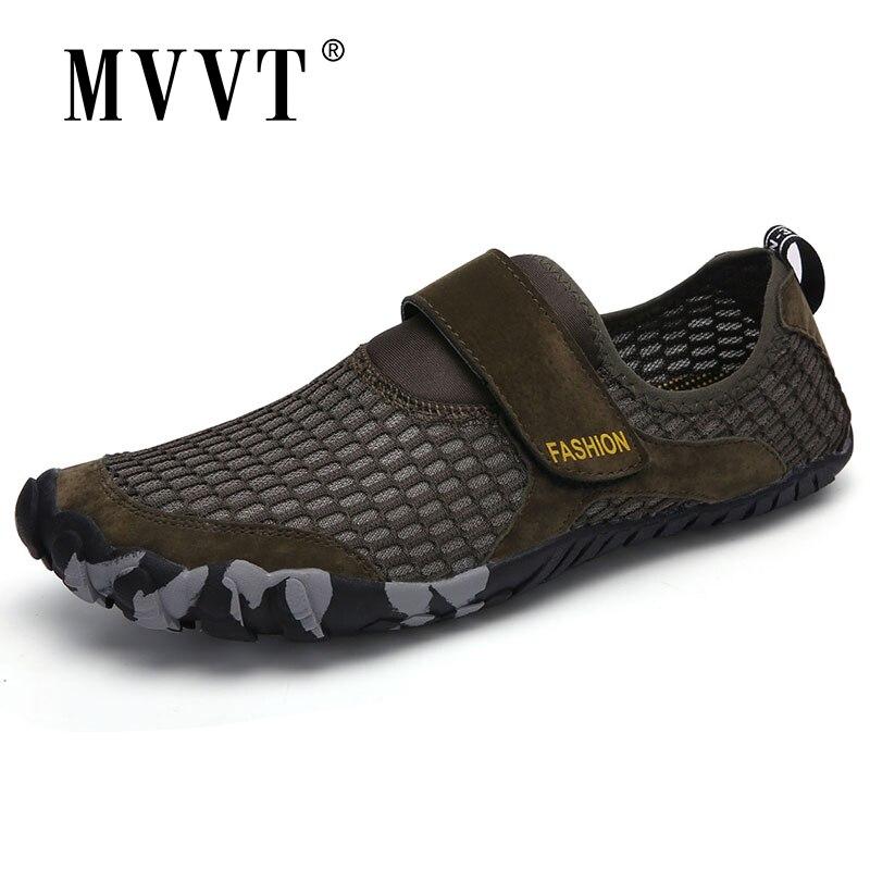 Tallas 46, zapatos acuáticos de verano para hombre, zapatillas de deporte transpirables para exterior, zapatos de secado rápido