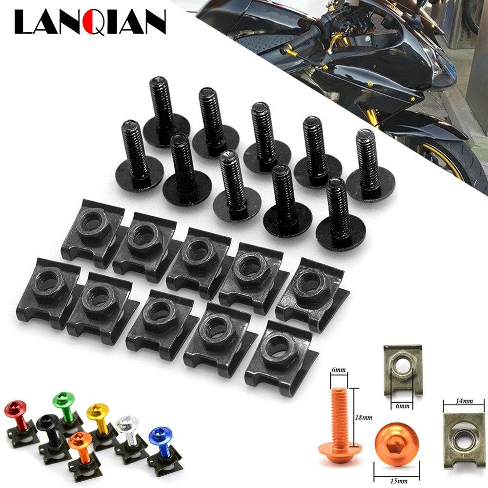 Tornillos de carenado para motocicleta, Clips de sujeción, Kit de tornillos de resorte para Suzuki Bandit 650S DL1000 V-STROM GSF 1200 1250 BANDIT