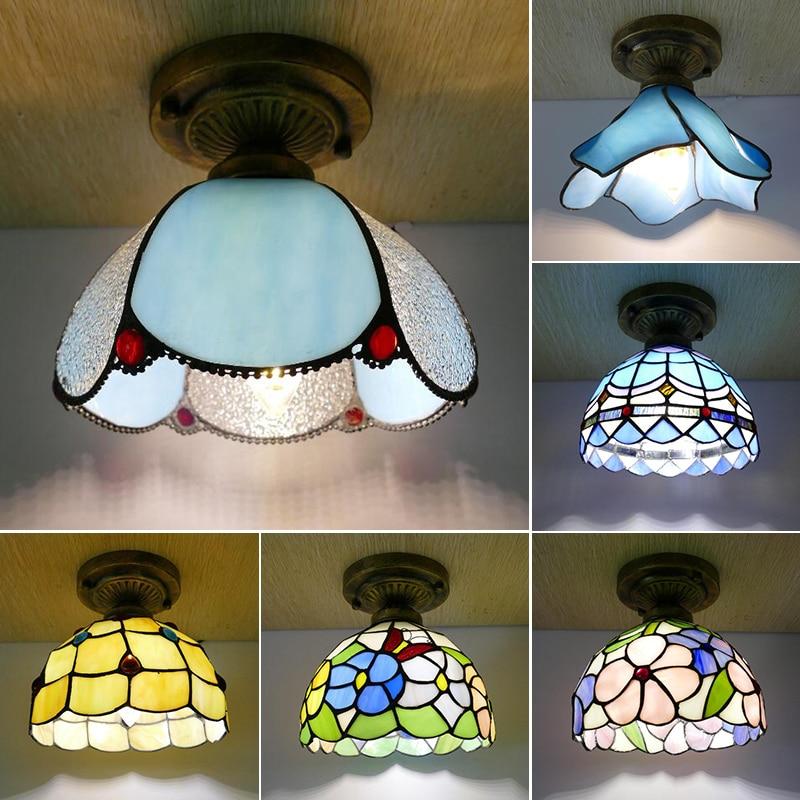 مصباح السقف المصغر بتصميم متوسطي ، مصباح السقف المفرد ، 8 بوصات