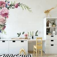 Mode autocollant Mural Art autocollant Mural fleur pepiniere pivoine mur Rose decalque decor a la maison