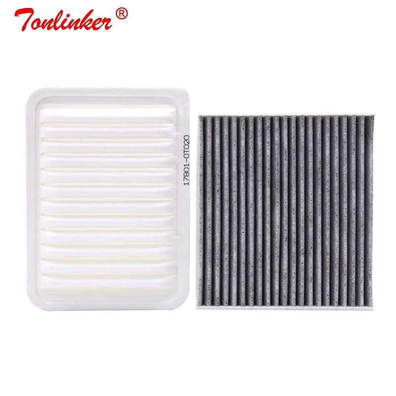 Filtro de ar do filtro de cabine 2 pces ajustados para toyota avensis t27 1.6l 1.8l 2.0l 2.2l 2009-2018 modelo carro filtro oem 178010t020 8713950100