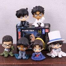 Detective Conan Figure Kaitou Kiddo Hattori Heiji Childhood Sitting Ver. Case Closed Action Figure PVC Collection Toy