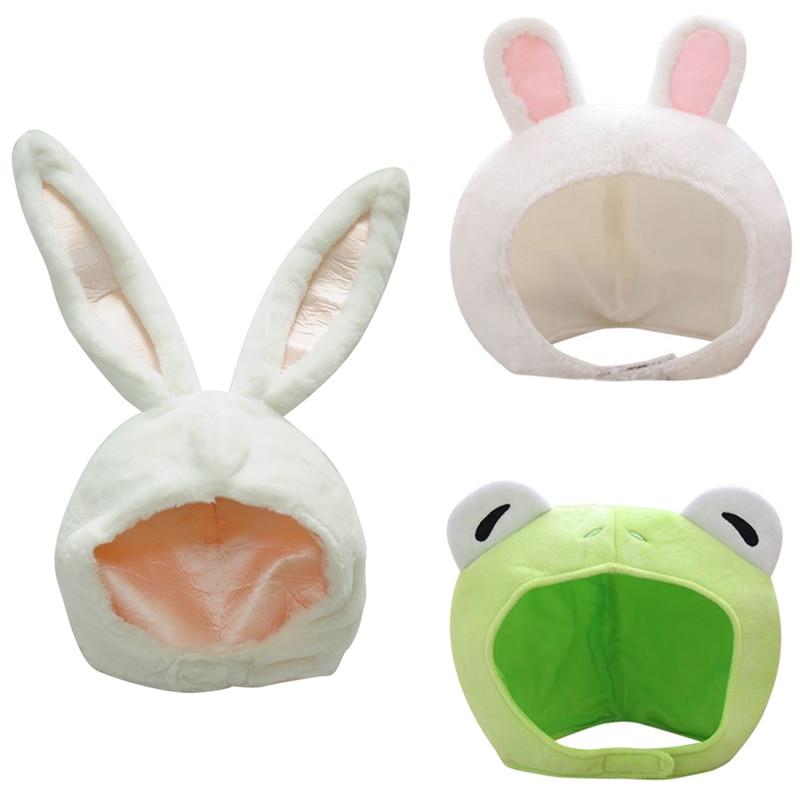 Bunny Hat Soft Plush Cap Long Ear Winter Party Costume Rabbit Cap Headwear White Rabbit Women's Hat