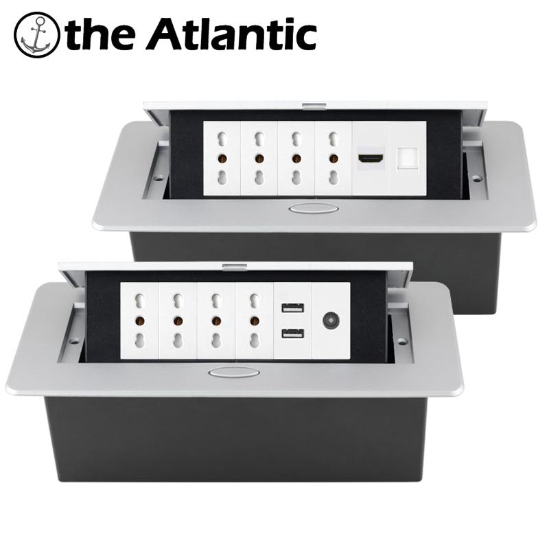 إيطاليا المقبس سطح المكتب مقبس منبثقة منافذ الجدول سطح المكتب المقبس راحة قطاع الطاقة المقبس USB الهاتف RJ45 التلفزيون HDMI شيلي نوع L